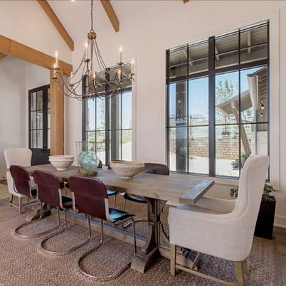 E-Series transom and picture windows; Raised panel entry door; Black interior, Sandtone (or similar) exterior; Black hardware  Lakeway, Texas (TX)  Builder: Arbogast Custom Homes   Keywords: